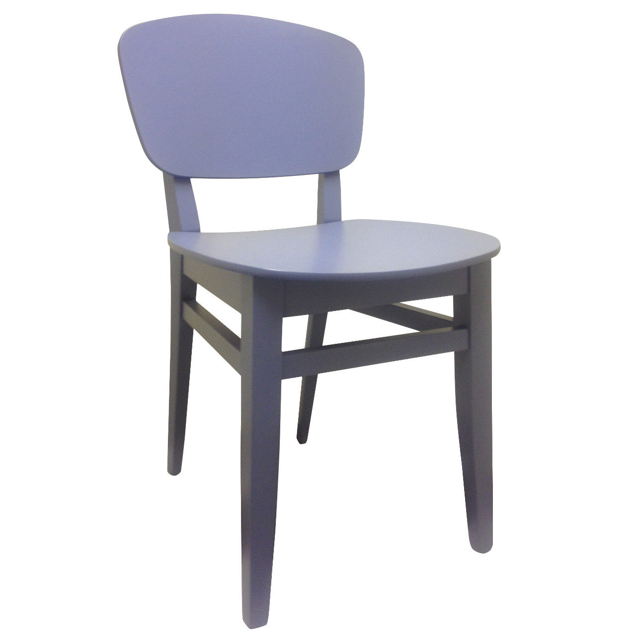 Blue solid chair