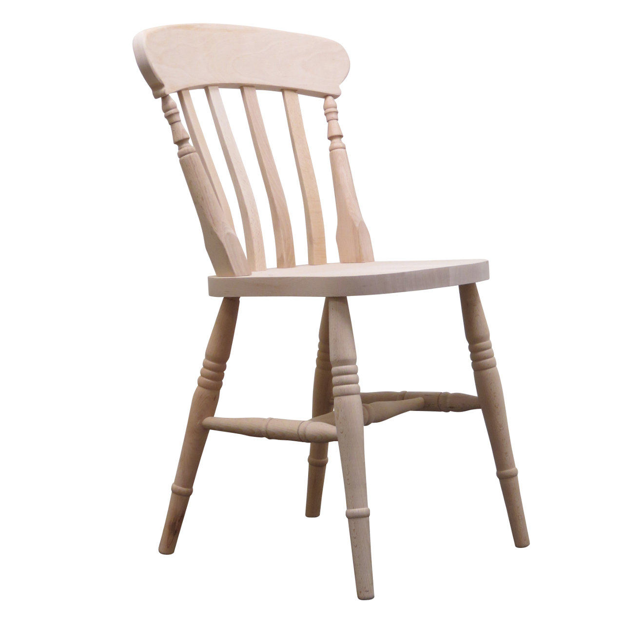 Farmhouse chair Slat back farmhouse