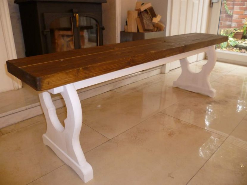 Stylish bench finished any Farrow and Ball colour