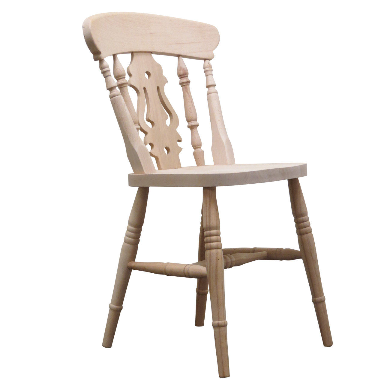 Manorcraft solid beech farmhouse chair